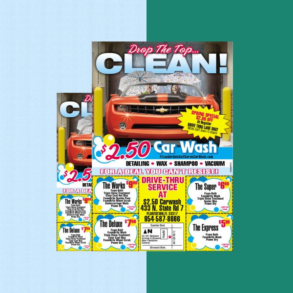self serve car wash flyer