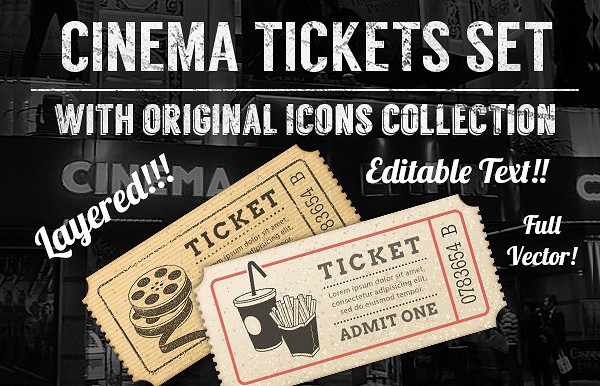 set of cinema tickets