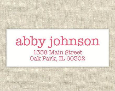 Simple Address Label Example