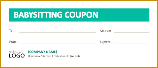 simple babysitting coupon template example