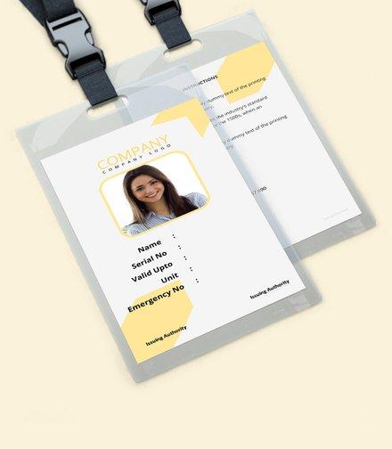 simple blank id card template mockup