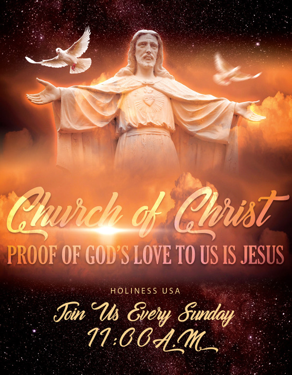 simple church flyer design