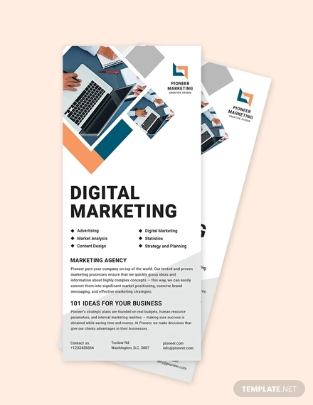 simple marketing agency rack card