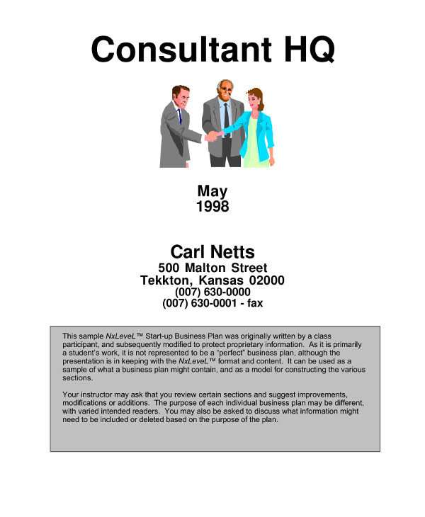 simple marketing consulting business plan example1