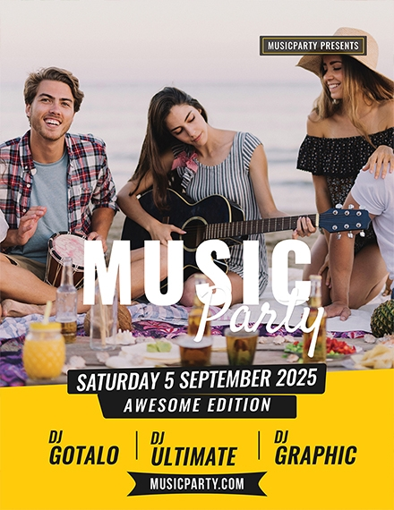 Simple Music Flyer Template