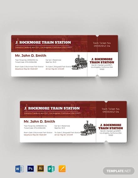 simple train ticket template