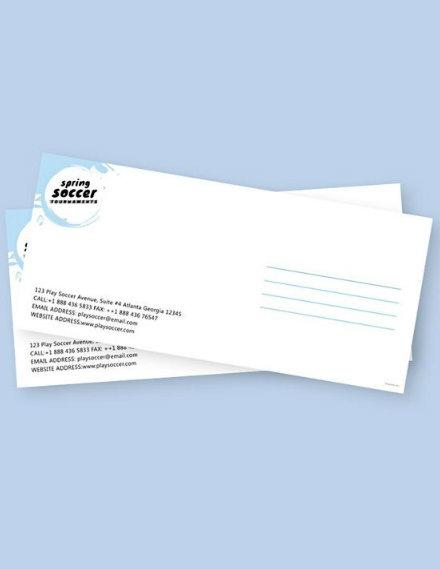 Soccer Envelope Sample