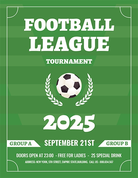 soccer league flyer template