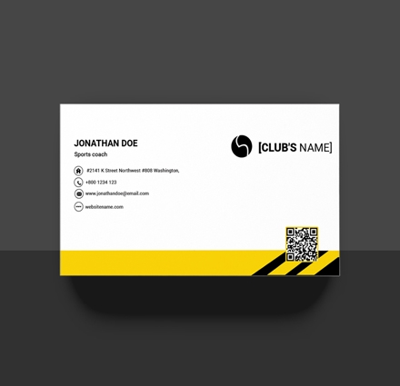 sports business card example