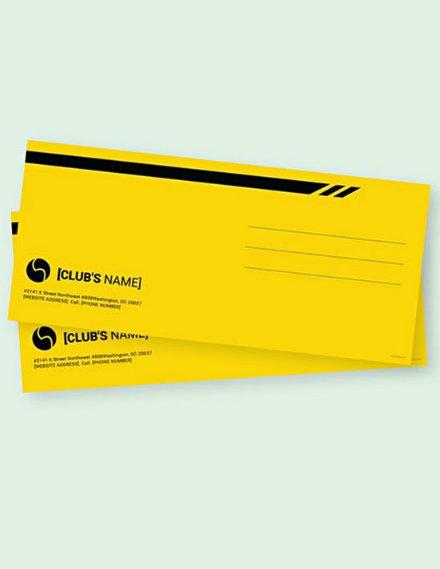 Sports Envelope Sample