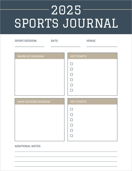 sports journal template1