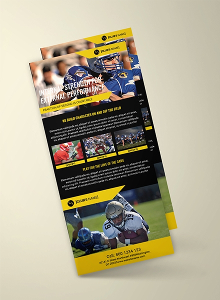 Sports Rack Card Template