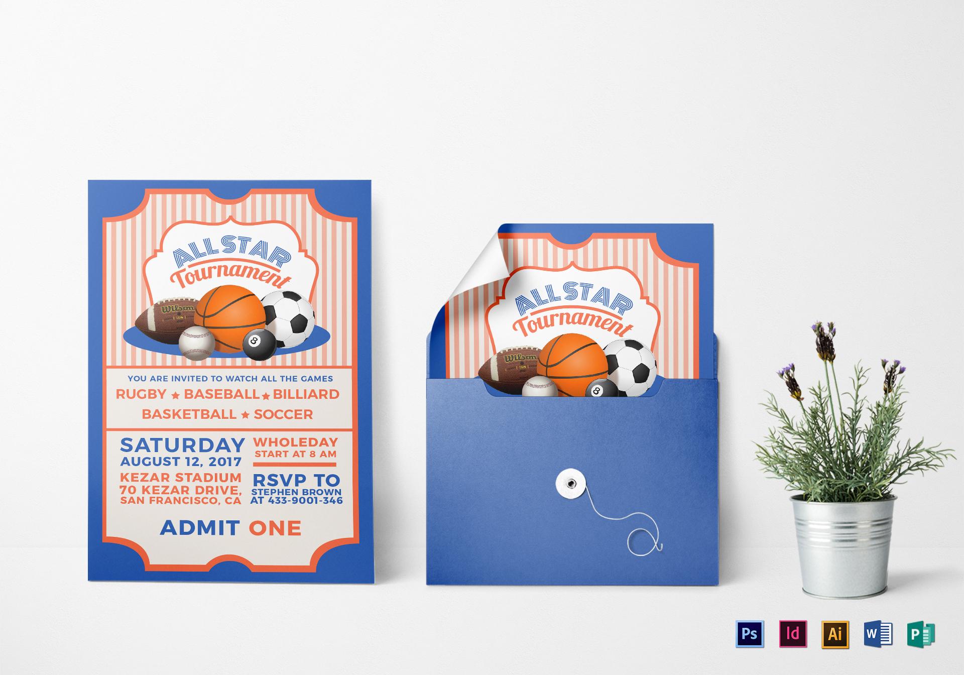 sports ticket invitation