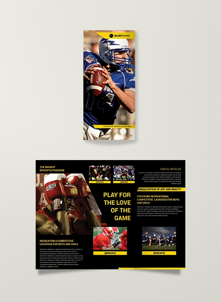 sports tri fold brochure template example
