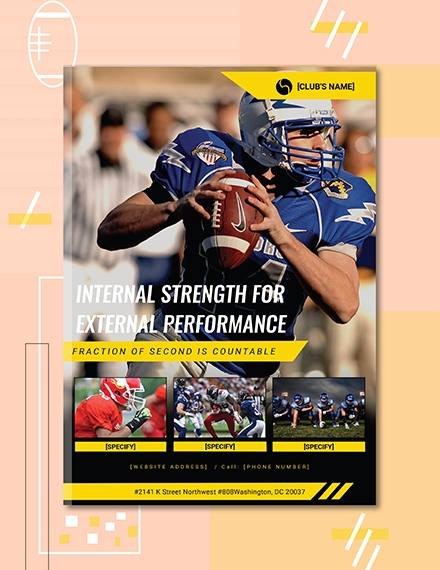 sports ebook cover page template
