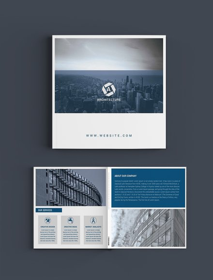 square architect brochure template
