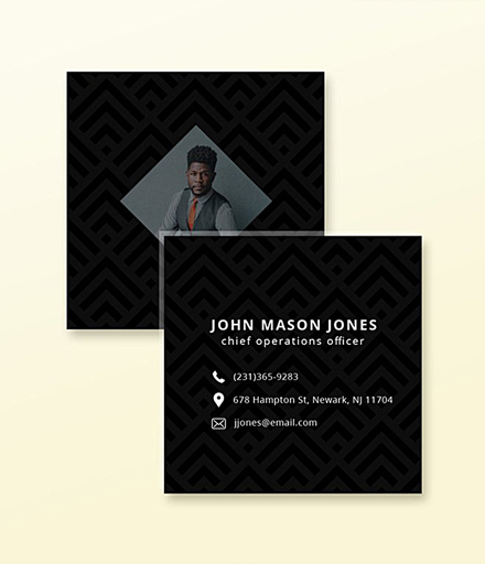 square business card example