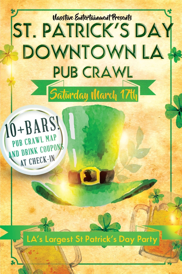 St. Patrick's Day Pub Crawl Flyer