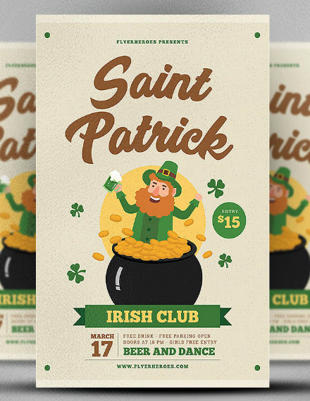 St. Patrick's Irish Club Flyer Template