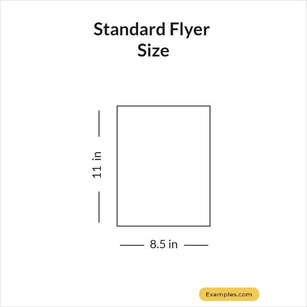 standard flyer size