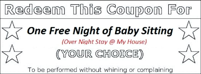 star babysitting coupon template example