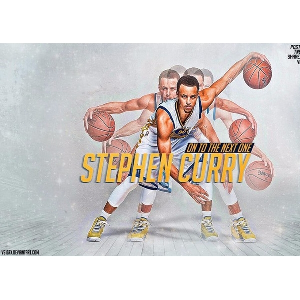stephen curry dribble sports poster
