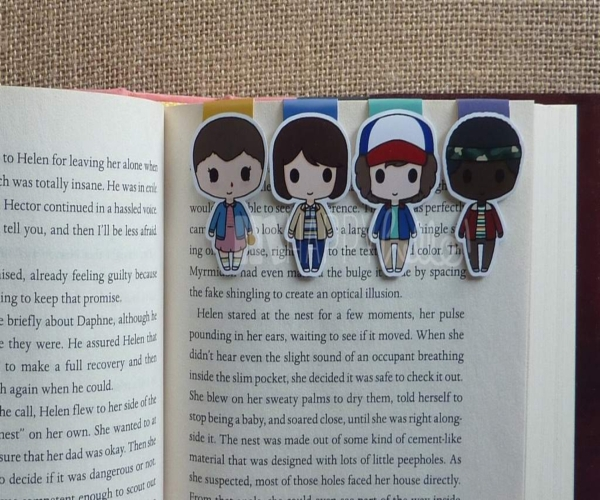 stranger things inspired bookmark
