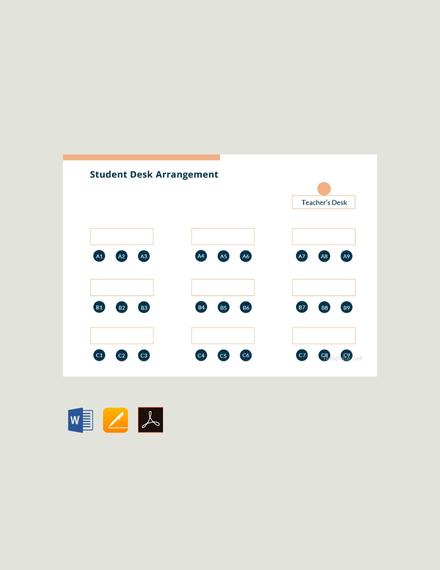 student desk arrangement template