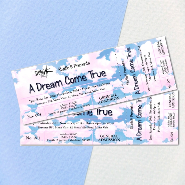 studio k dance end of year concert event ticket