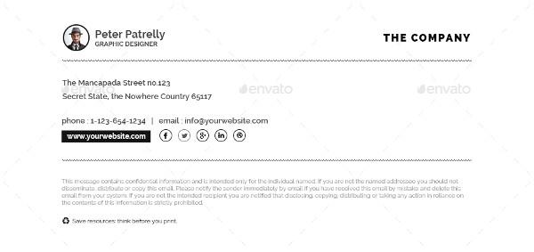 stylish email signature example1