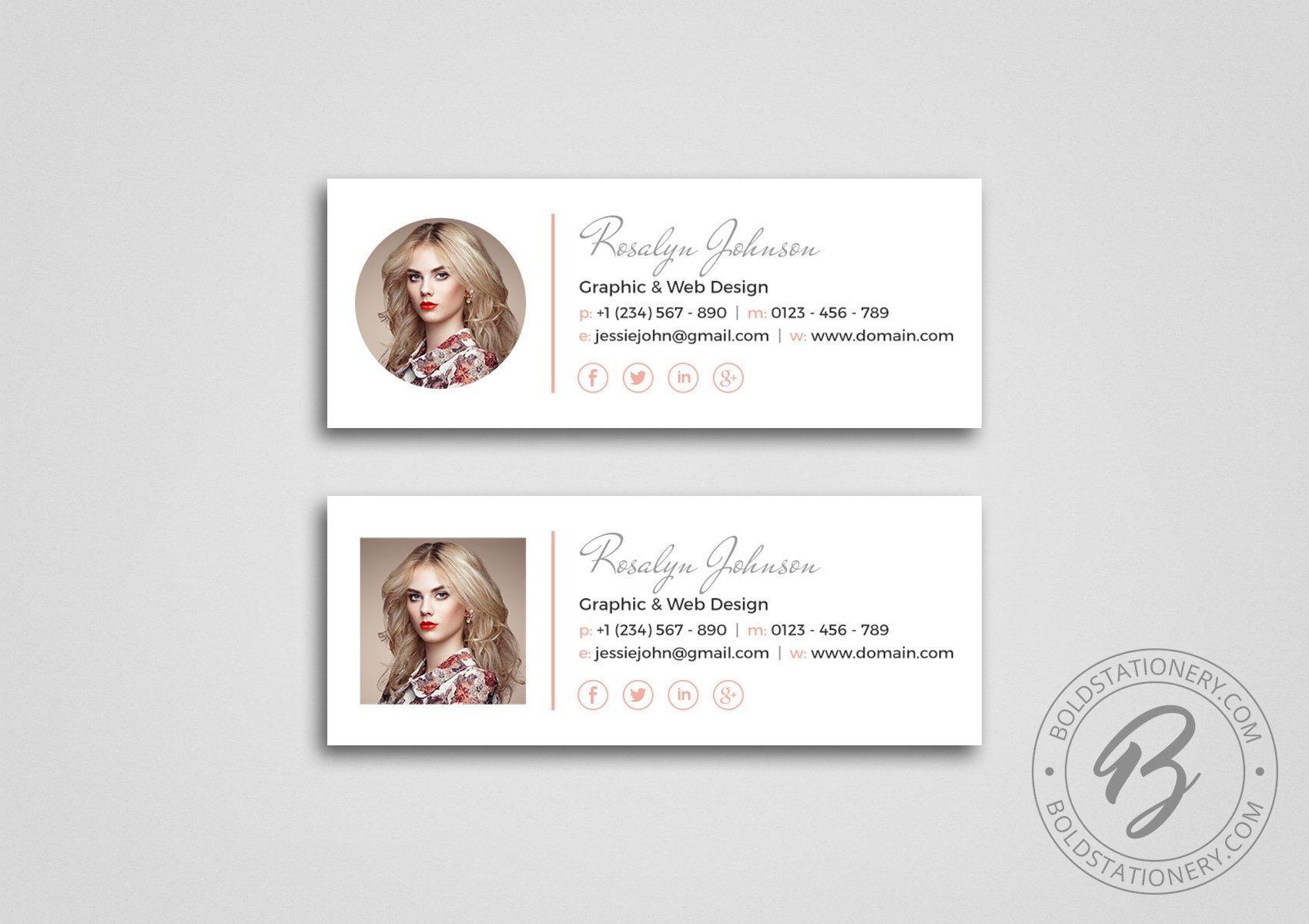 stylish minimalist email signature example