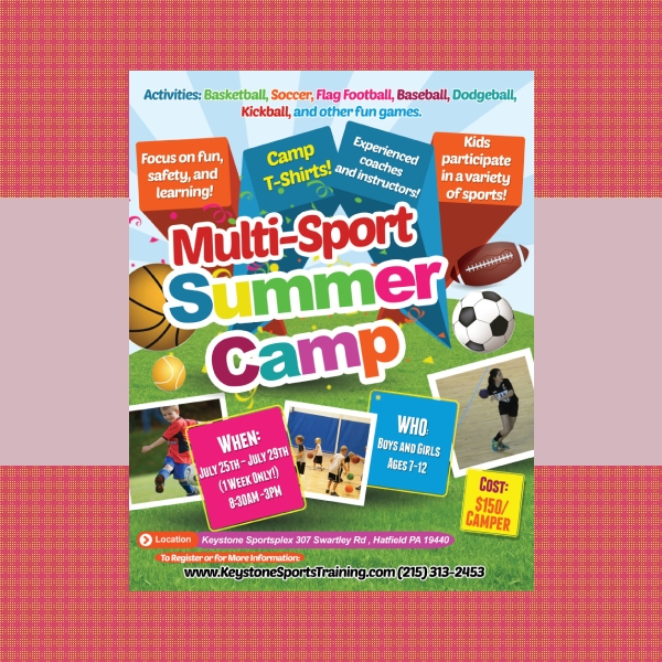 summer camp sports flyer