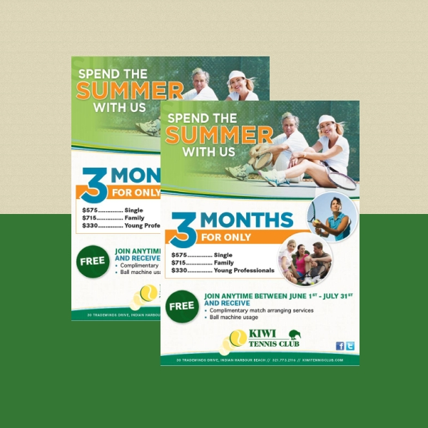 summer membership sports flyer