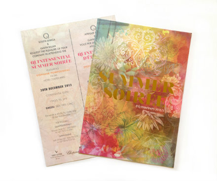 summer soiree event invitation
