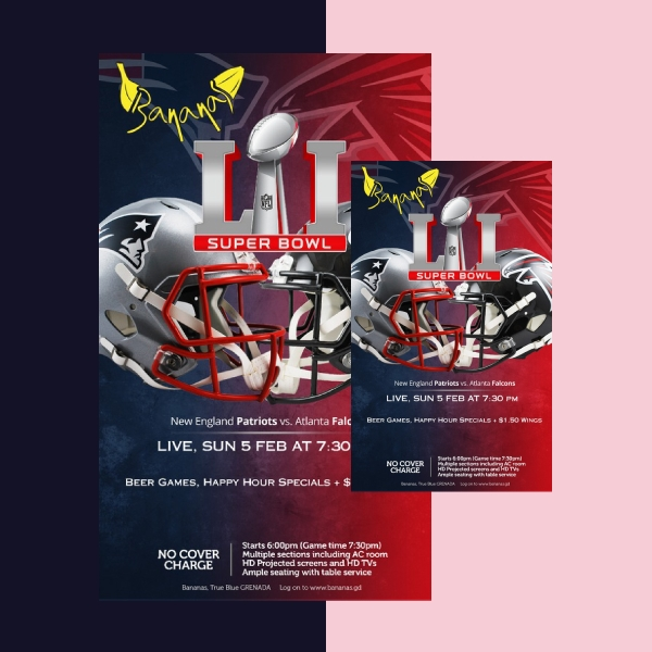 superbowl sports flyer