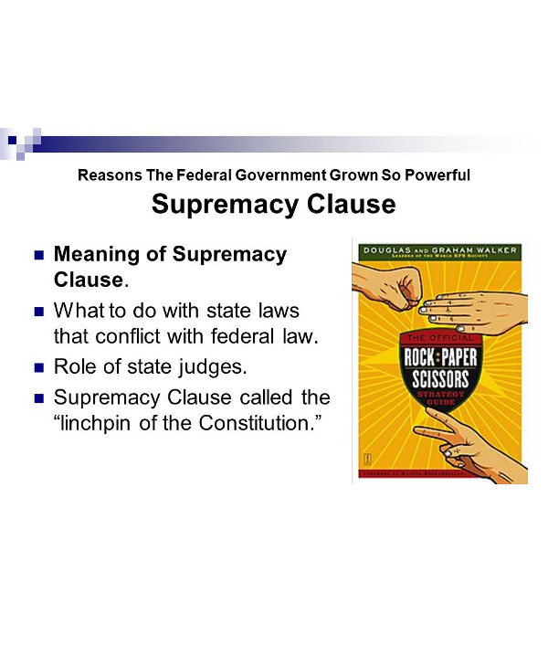 supremacy clause and the federal government1