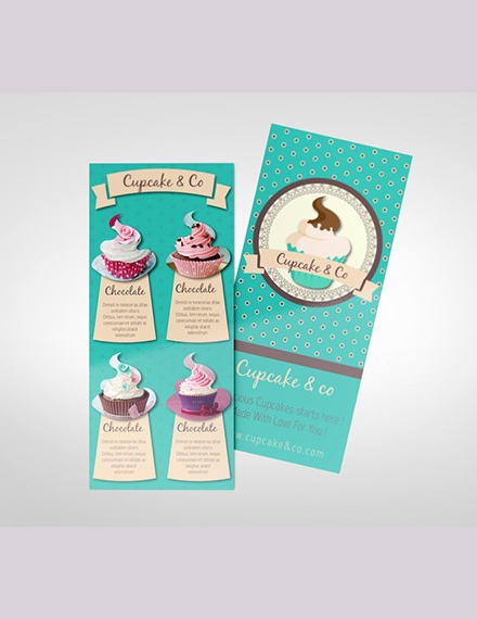 sweet cupcake rack card sample