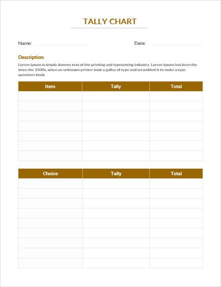 tally chart template1