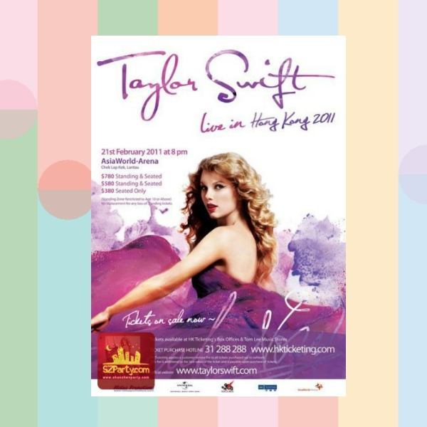 taylor swift hong kong live concert flyer