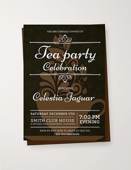 tea party invitation sample