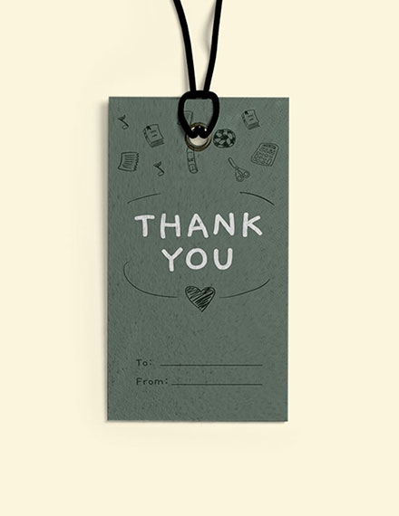 Teacher Thank You Gift Tag