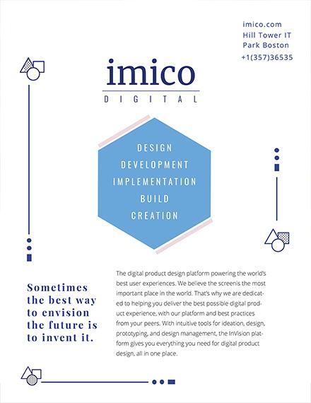 Tech Start up Business Flyer