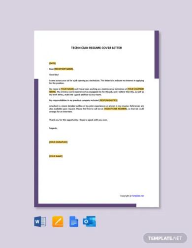 technician cover letter1