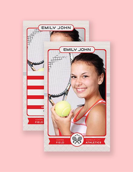 tennis trading card
