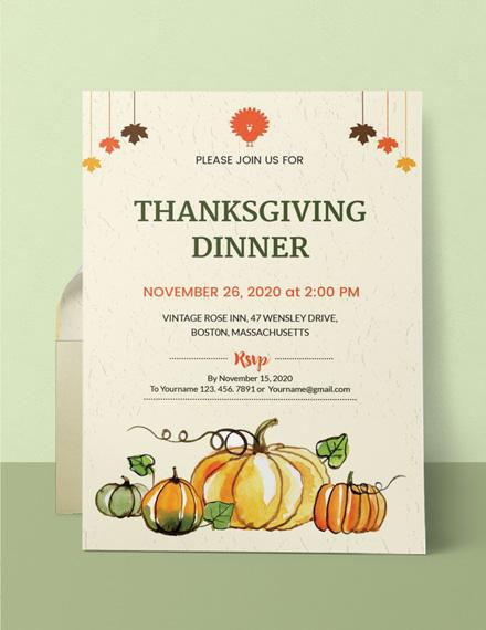 thanksgiving dinner party sample