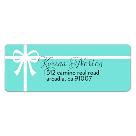 tiffany blue address label example