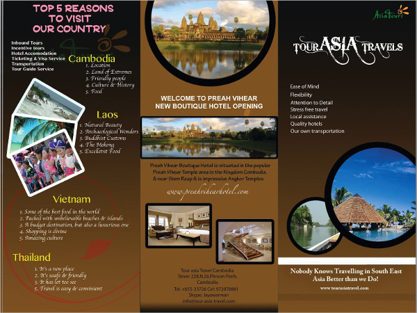 Tour Asia Travel Brochur