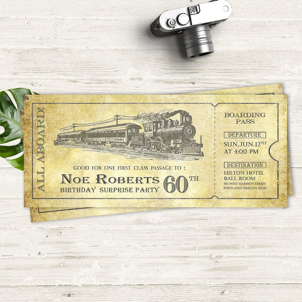 train birthday party ticket example1