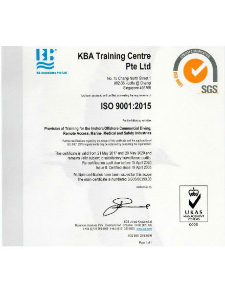 training centre certificate sample