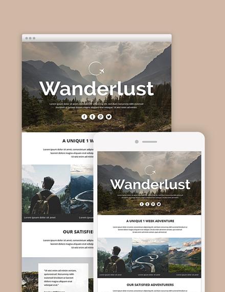 travel email newsletter